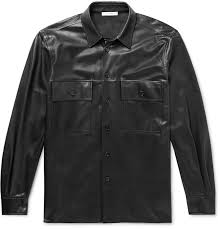 the rowjohnny leather shirt jacket
