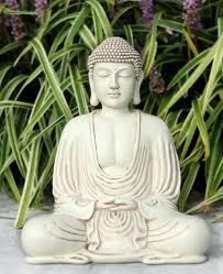 buddha garden statue. Minimalist Indoor-Outdoor Buddha Statue, 8.5 Inches Garden Statue