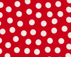 RED & WHITE Fabric by the Yard, Fat Quarter RED Polka Dot Fabric Red Fabric