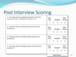 Sample Interview Score Sheet Interesting Interviewing Best Practices