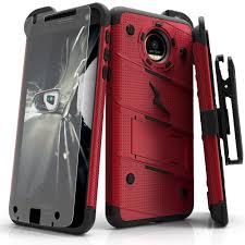 motorola z force. zizo bolt cover for motorola moto z force military grade + free glass screen protector