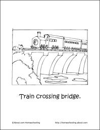 Small Picture Homeschooling Trains Coloring Book