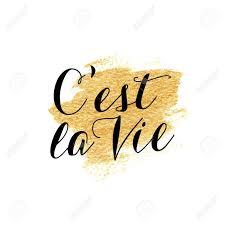 Cest La Vie Lettrage à La Main Française Calligraphie Main La Traduction Est Ceci Est La Vie Vieille Sagesse Française Citation