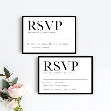 Rsvp Card Sizes Minimalist Rsvp Card Templates Modern Simple Wedding Rsvp Template Printable Minimal Black Border Response Card Template Chic Rsvp Card