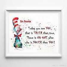 Quote Prints Unique Dr Seuss Quote Print Artwork Print Inkist Prints