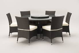 sidney 1 4 metre round grey rattan dining table and 6 dining chairs set sidney 6