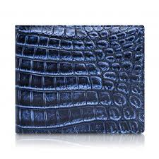 ammoment caiman in degrade navy black leather bifold wallet
