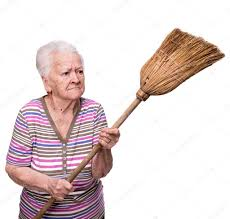Image result for lady with broom image