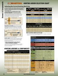 Easton Gamegetter Arrow Chart Tradtech Archery The Latest Innovations In Traditional
