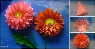 Dahlia Flower Making With Paper How To Make Paper Dahlias