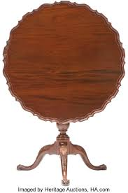 table 30 inches high. 30 inches high; furniture , a chippendale-style mahogany tilt-top tea table. table high c