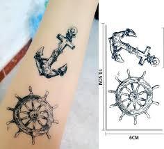 1ks Nové Tetování Nálepka Vodotěsné žena Pánské Pirátské Posádky