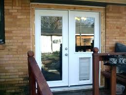 dog door for french doors french doors with pet door installed dog extraordinary for built in