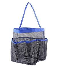 quick dry hanging toiletry and bath organizer with 8 storage compartments shower tote mesh