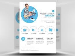 Web Design Brochure Template Minimal Web Design Flyer Template