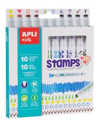 Washable Black Light Markers Apli Markers Stamps 10 U