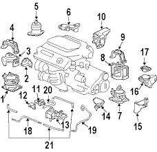 parts com® honda accord engine trans mounting oem parts 2004 honda accord ex v6 3 0 liter gas engine trans mounting