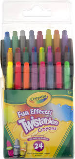 Crayon Rings Crayola Fun Effects Twistables Crayons 24 Ct Walmartcom