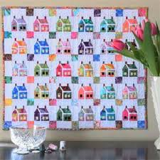 Friday Free Quilt Patterns: Miniature House Quilt Pattern ... & ... a Web Bonus from our McCall's Quilting May/June 2011 issue, a wonderful  foundation-pieced miniature (17¼˝ x 20¼˝) version of The House That Kaffe  Built. Adamdwight.com