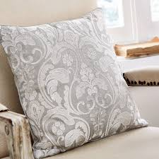 bedding jacquard cushion in silver white
