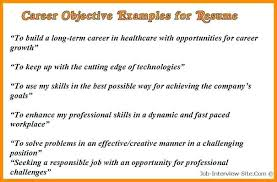 Career Objectives For Resume Examples Resume Samples Career Objective Career Objectives Resume 37