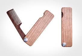folding wood beard comb lumberjac