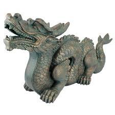 dragon resin garden statues