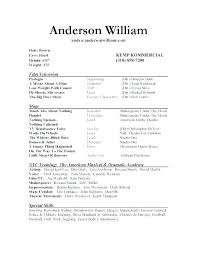 actor resume no experience child acting resume template no experience sample acting resume