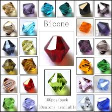 Bicone Bead Size Chart 5301 5328 Wholesale Top Aaa Quality Bicone Beads 100pcs Lot