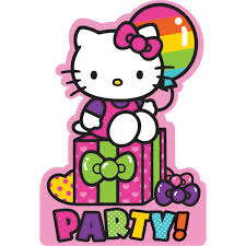 hello kitty rainbow invitations 8 birthdayexpress com default image hello kitty rainbow invitations 8