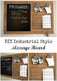 DIY Home Office Decor Ideas - DIY Industrial Style Message Board - Do It  Yourself Desks
