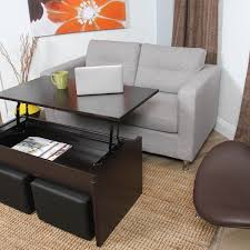 Alectra Lift Top Rectangular Wood Veneer Finish Coffee Table And Casual  Seating Stools Coffee Table With Stools Singapore