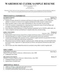 stocker resume sample