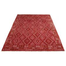 Image Area Rug Woven Massimo Kelim Red Rugs