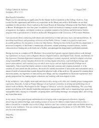 Archivist Cover Letter Archivist Resume Example Archival Hiring ...