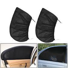 2 pcs black car rear side window sun shade cover kids baby max uv protector shield