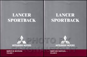 2004 mitsubishi lancer sportback wiring diagram manual original 2004 mitsubishi lancer sportback repair shop manual original 2 volume set 139 00