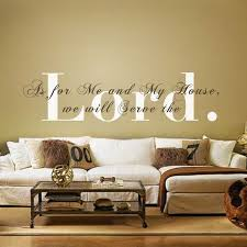 >vinyl wall decal as for me and my house we will serve the lord  vinyl wall decal as for me and my house we will serve the lord monogram religious wall quote home decor wall stickers in wall stickers from home garden