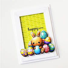<b>Eastshape</b> Easter Happy Rabbit <b>Clear Stamps</b> and Dies for Craft ...