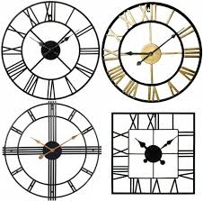 wall clock large square metal roman