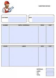 Handyman Invoice Forms Under Fontanacountryinn Com