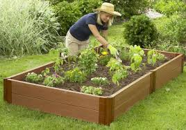 composite raised garden bed. Interesting Bed Frame It All Composite Raised Garden Kit 4ft X 8ft 11in Rectangle 2  Inch Profile And Bed T
