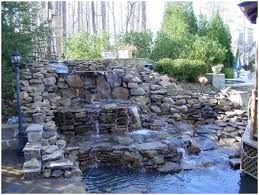 Small Picture Backyards Excellent Backyard Waterfall Backyard Pondless