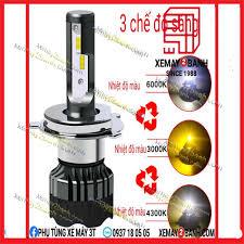 Đèn led xe máy I11 H4 cao cấp 3 chế độ sáng trắng vàng và trắng vàng