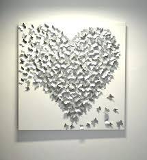 metal love heart wall art