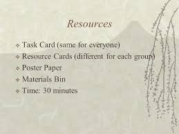 "no w "" and rhetorical strategies mr josefino rivera jr  9 resources  task card same for everyone  resource cards different for each group  poster paper  materials bin  time 30 minutes"