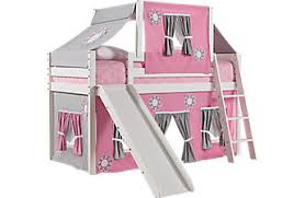 bunk bed with slide. Simple With Pink Cottage White Jr Tent Loft Bed With Slide And Top In Bunk With