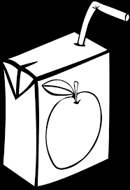 juice clipart black and white. Interesting Clipart OnlineLabels Clip Art  Fast Food Drinks Apple Juice Box Black  In Clipart And White