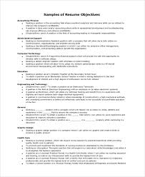 Sample General Objective For Resume Resume Objective Example 10 Samples In Word Pdf