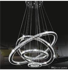 modern led crystal chandeliers pendant lights ceiling hanging lighting fixtures with ac110 240v led smd round ring diamond french country chandelier unique